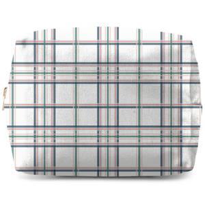 Tartan Thin Stripes Makeup Bag
