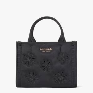Kate Spade New York Women's The Little Better Sam Embroidery Nylon Mini Tote Bag - Black