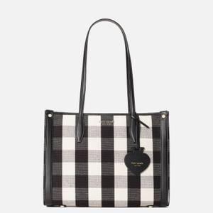 Kate Spade New York Women's Market Gingham Medium Tote Bag - Black Multi