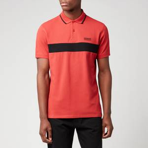 Barbour International Men's Block Stripe Polo Shirt - Root Red