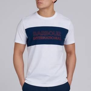 Barbour International Men's Panel Logo T-Shirt - White