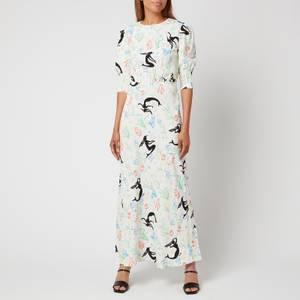 RIXO Women's Lucile Dress - Sea Life White Multi