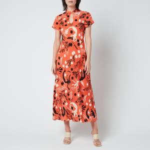 RIXO Women's Pepper Dress - Mono Sea Life Coral