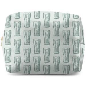 Beer Glass Pattern Wash Bag
