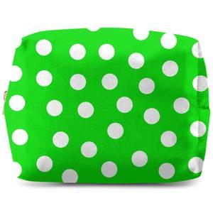 Green Polka Dots Wash Bag
