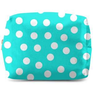Turquoise Polka Dots Wash Bag