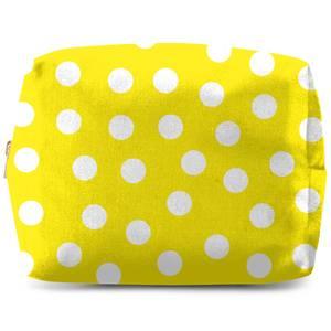 Yellow Polka Dots Wash Bag