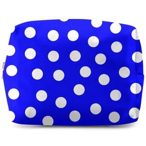 Bright Blue Polka Dots Wash Bag