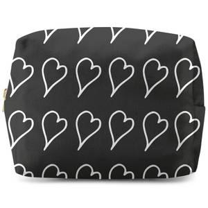 Scribbled Hearts Wash Bag
