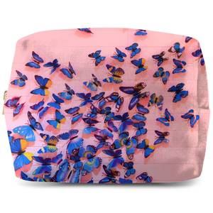 Girly Butterfly Crowd Wash Bag