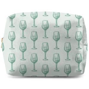 Wine Glass Pattern Wash Bag