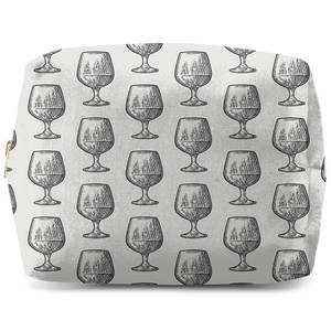 Whisky Glass Pattern Wash Bag