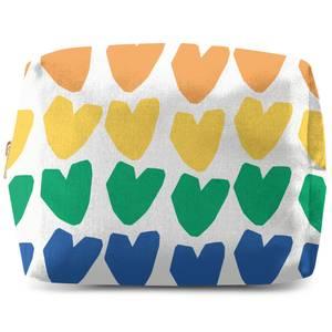Rainbow Hearts Wash Bag