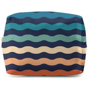 Rainbow Wave Wash Bag