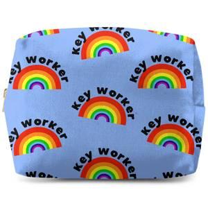 Key Worker Rainbow Wash Bag