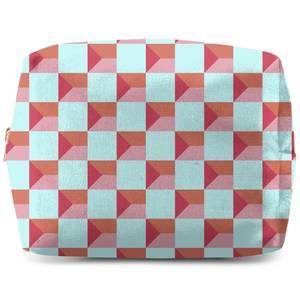 Colourful Check Wash Bag