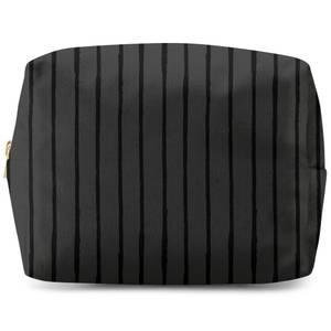 Inky Vertical Stripes Wash Bag