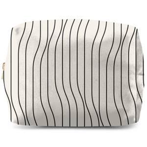Horizontal Warped Lines Wash Bag