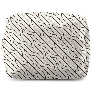 Diagonal Warped Lines Wash Bag