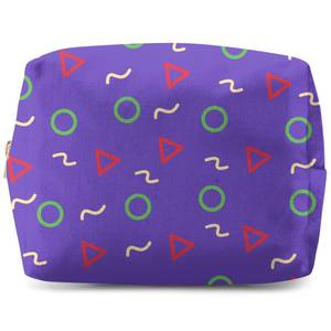 Circles, Triangles And Squiggles Wash Bag