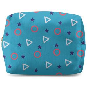 Circles, Triangles And Stars Wash Bag