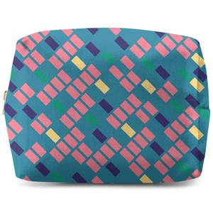 Rainbow Scattered Lines Wash Bag