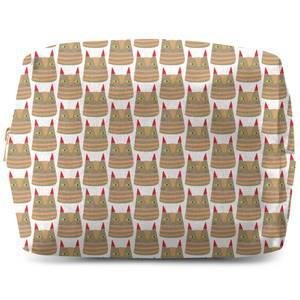 Brown Cat Wash Bag