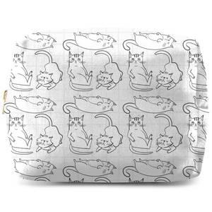 Cat Outline Pattern Wash Bag