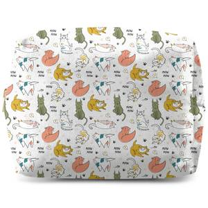 Colourful Cat Pattern Wash Bag
