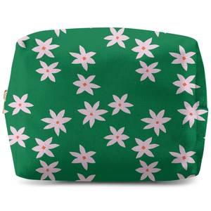 Retro Pressed Flowers Wash Bag