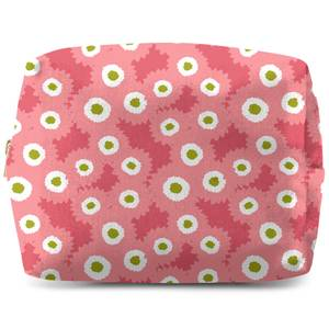 Retro Fuzzy Flowers Wash Bag