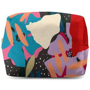 Retro Abstract Leaves Wash Bag