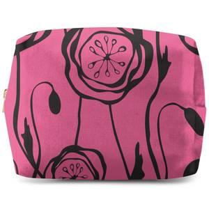 Retro Poppy Wash Bag
