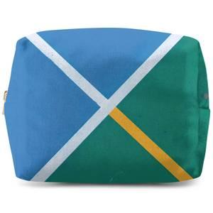 Sport Geometric Wash Bag