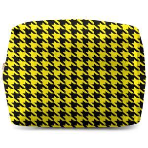 Yellow Dogtooth Wash Bag
