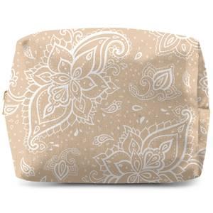 Light Biege Paisley Wash Bag
