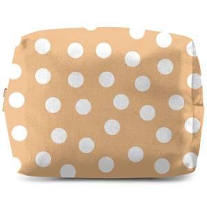 Beige Polka Dots Wash Bag