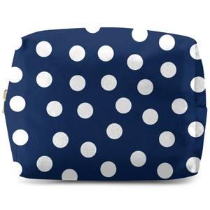 Navy Polka Dots Wash Bag
