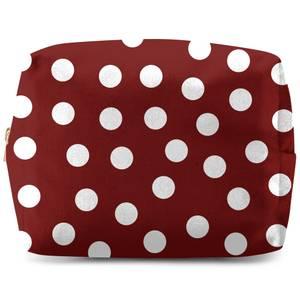 Burgundy Polka Dots Wash Bag