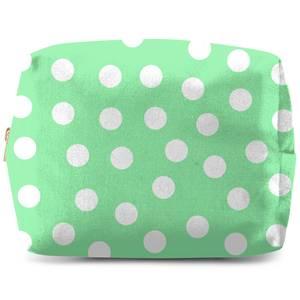 Mint Polka Dots Wash Bag