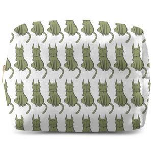 Green Cat Wash Bag