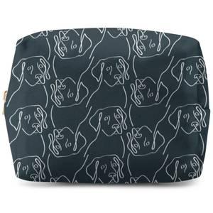Abstract Dog Pattern Wash Bag