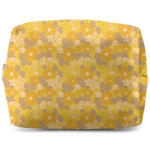 60s Flower Print Wash Bag