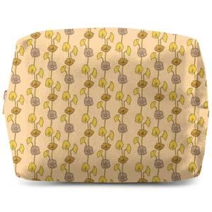 60s Light Flower Wash Bag