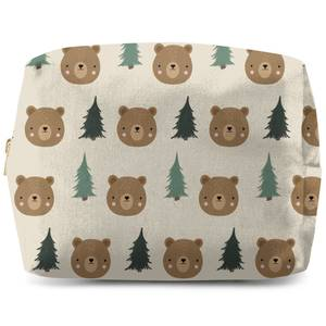 Bear And Forest Pattern Wash Bag
