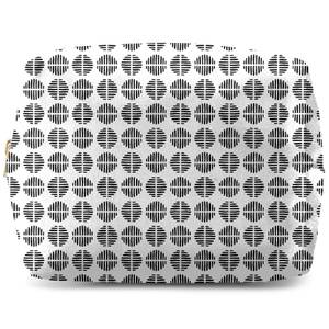Retro Black And White Circles Wash Bag