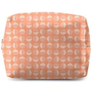 Retro Peach Circles Wash Bag