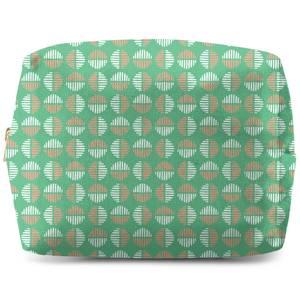 Retro Green Circles Wash Bag