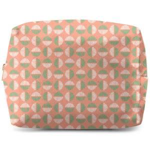 Retro Pink & Green Circles Wash Bag