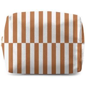 Retro Rust Stripes Wash Bag